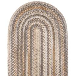 Colonial Mills Millworks Oval Floor Runner - 2x10', Braided Wool