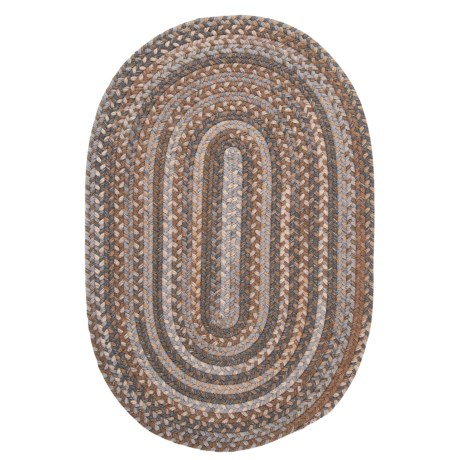 Colonial Mills Millworks Oval Rug - Braided Wool, 8x11'