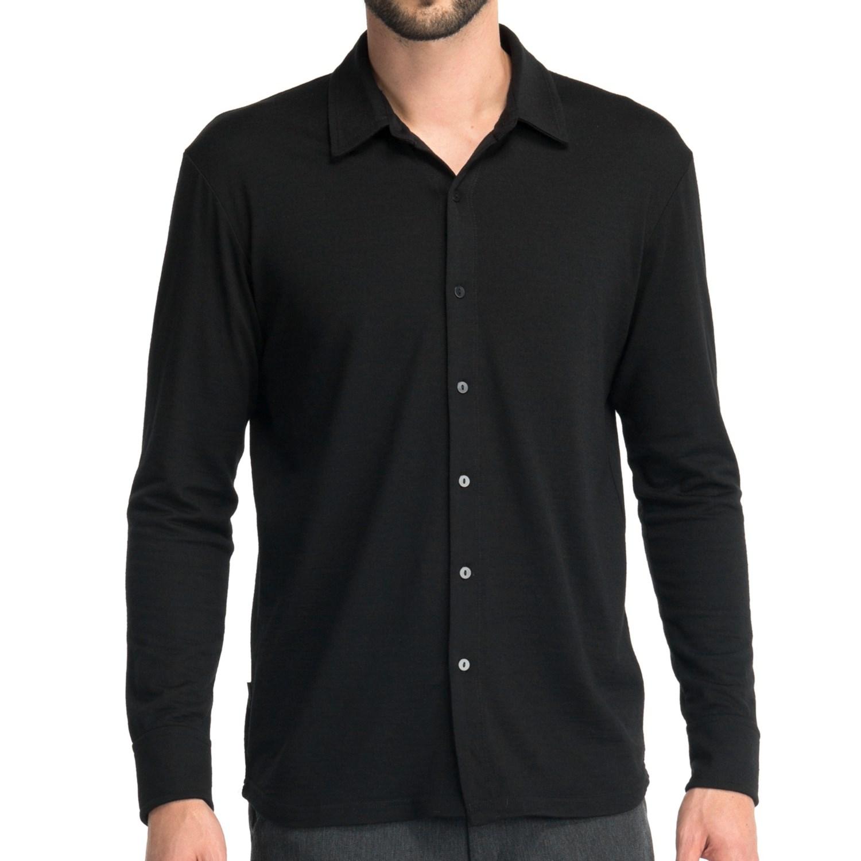 Icebreaker seeker shirt for men 6111c save 30 for Merino wool shirt long sleeve