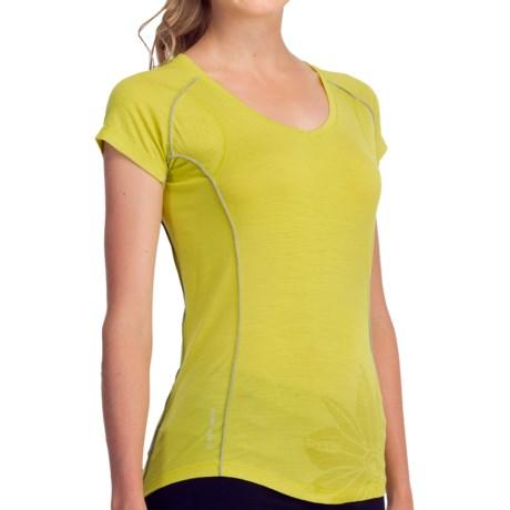 Icebreaker GT Flash T-Shirt - UPF 40+, Merino Wool, V-Neck, Short Sleeve (For Women)