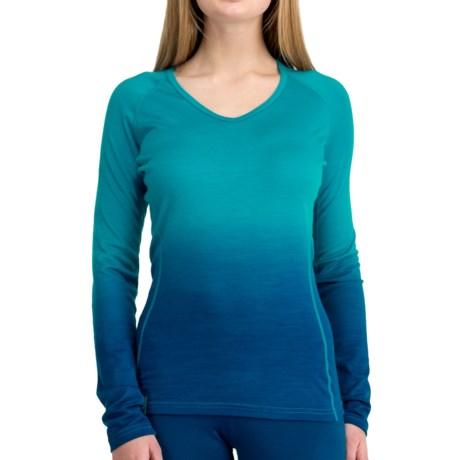 Icebreaker 2013 Bodyfit 200 Oasis V Dusk Base Layer Top - UPF 50+, Lightweight, Merino Wool, Long Sleeve (For Women)