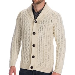 Peregrine by J.G. Glover Aran Shawl Cardigan Sweater - Merino Wool (For Men)