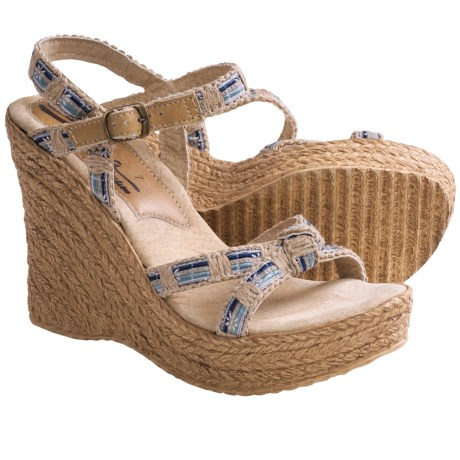 Sbicca Sydney Wedge Sandals - Denim (For Women)