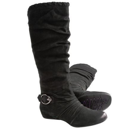 Earthies Chara Tall Boots - Leather (For Women)