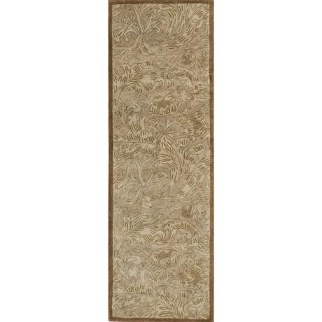 """Momeni Arabesque Hand-Tufted Wool Floor Runner - 2'6""""x8'"""