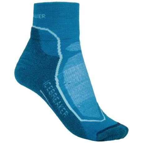 Icebreaker Hike + Lite Mini Socks - Merino Wool, Quarter Crew (For Women)