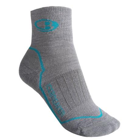 Icebreaker Run Light Cushion Mini Socks - Merino Wool, Quarter Crew (For Women)