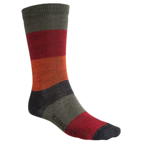 Icebreaker City Ultralite Stripey Crew Socks - Merino Wool (For Men)