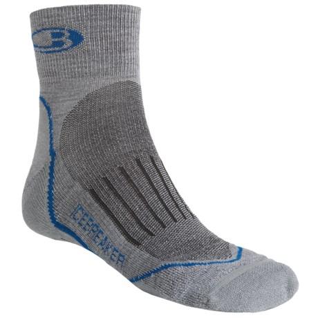 Icebreaker Run Mini Socks - Merino Wool, Quarter-Crew (For Men)