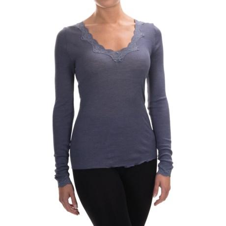 Calida Richesse Top - Wool-Silk, Long Sleeve (For Women)