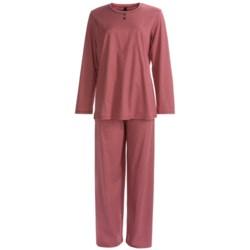 Calida Ingrid Pant Pajamas - Cotton Interlock, Long Sleeve (For Women)