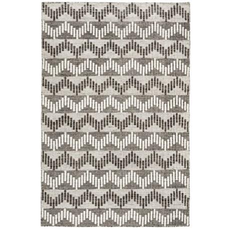 Momeni Mesa Flat-Weave Natural Wool Area Rug - Reversible, 5x8'