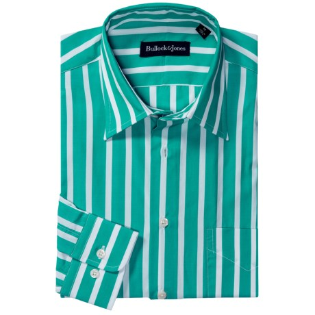 Bullock & Jones Bold Wide Stripe Shirt - Long Sleeve (For Men)