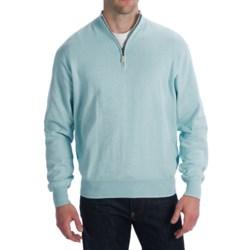 Bullock & Jones Sweater - Cotton-Cashmere Blend, Zip Neck, Long Sleeve (For Men)
