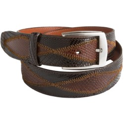 Bullock & Jones Genuine Lizard Patchwork Belt (For Men)