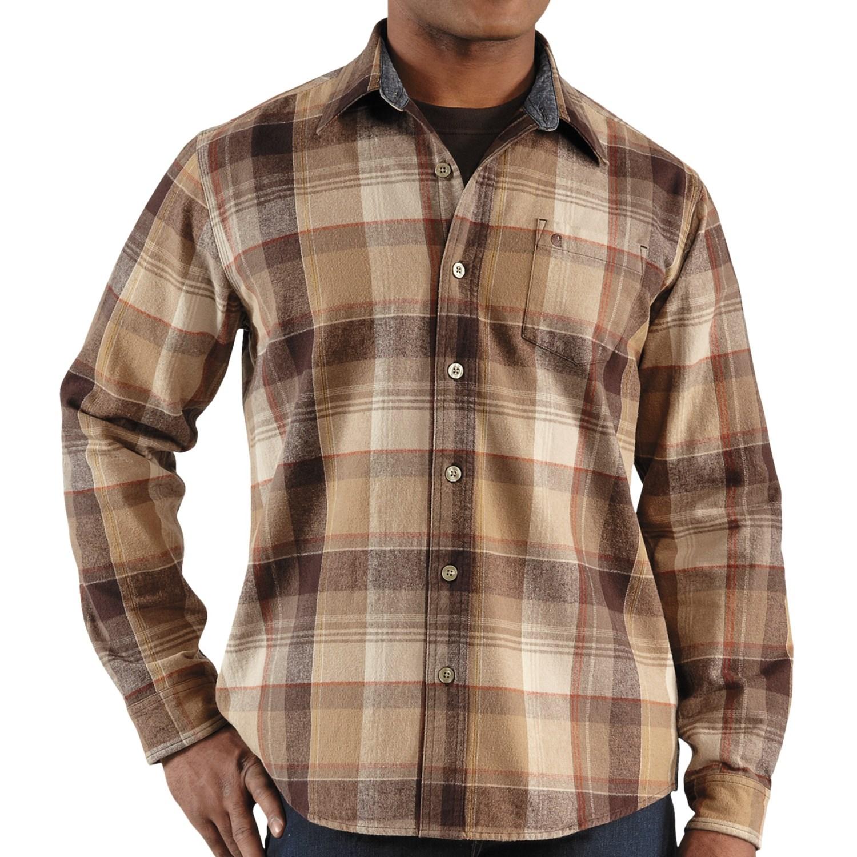 Carhartt hubbard plaid flannel shirt for men 6139w for Long plaid flannel shirt