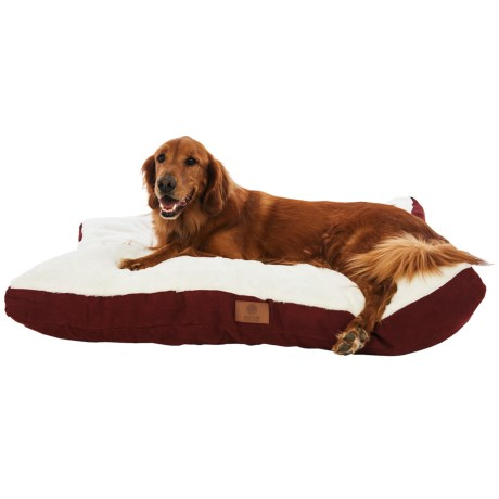 AKC Sueded and Faux Fur Pet Bed- 35x44""