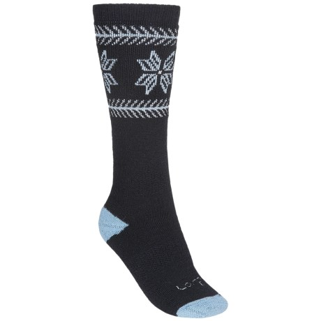 Lorpen Ski/Snowboard Socks - 2-Pack, Merino Wool, Midweight, Over-the-Calf (For Women)