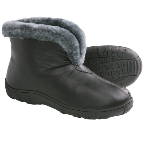 LAMO Bridget Bootie Slippers - Leather, Merino Shearling Lining (For Women)