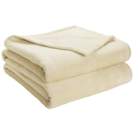 DownTown Shangri-La Plush Blanket - Queen, Cotton-Rayon