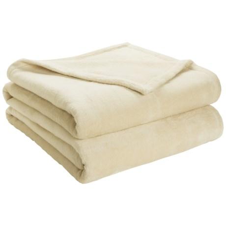 DownTown Shangri-La Plush Blanket - King, Cotton-Rayon