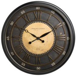 "Sterling & Noble 29"" Old World Wall Clock"