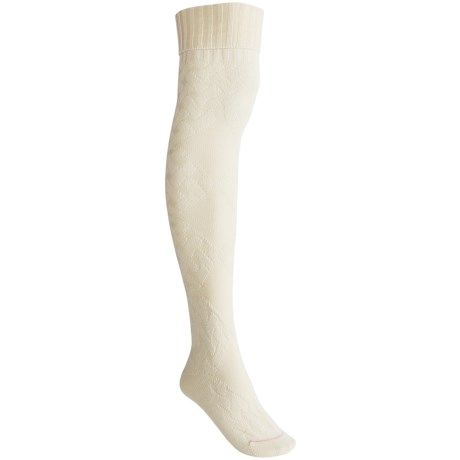 Pantherella Cable Socks - Merino Wool, Over-the-Knee (For Women)