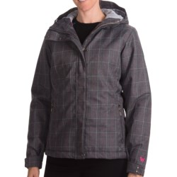 White Sierra Patchwork Jacket - Insulated, Hooded (For Women)