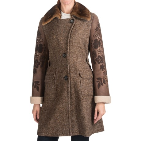 Bogner Yara-Pi Long Coat - Wool-Silk, Mink (For Women)