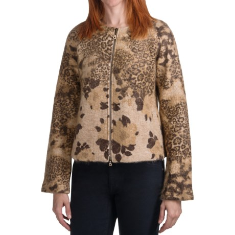 Bogner Xina Leopard Print Cardigan Sweater - Wool-Mohair (For Women)