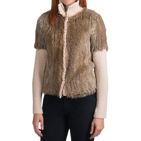 Bogner Ramira-P Wool-Cashmere Sweater - Rabbit Fur (For Women)