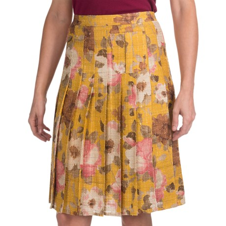 Bogner Rosina Silk Pleated Skirt (For Women)