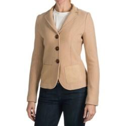 Bogner Nerina Blazer - Boiled Wool, Leather Trim (For Women)