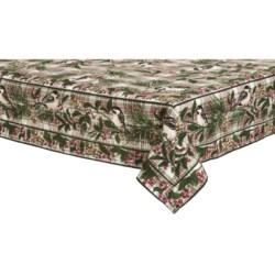 "April Cornell Chickadee Cotton Tablecloth - 90x60"""