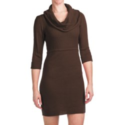 She's Cool Sweater Dress - Cowl Neck, 3/4 Sleeve (For Women)