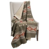 Woolrich Timber Mountain II Reversible Throw Blanket - Wool Blend