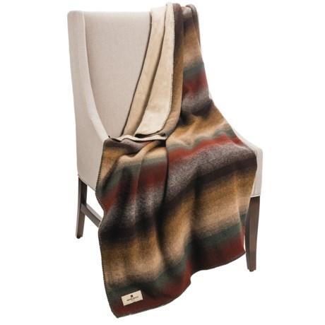 Woolrich Pioneer Reversible Throw Blanket - Wool Blend