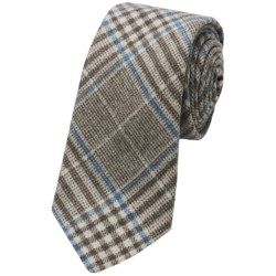 Altea Gange Textured Plaid Tie - Wool-Cashmere (For Men)