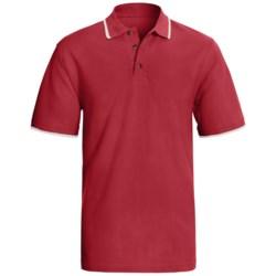Specially made Contrast Collar Polo Shirt - Short Sleeve (For Men)