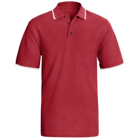 Contrast Collar Polo Shirt - Short Sleeve (For Men)