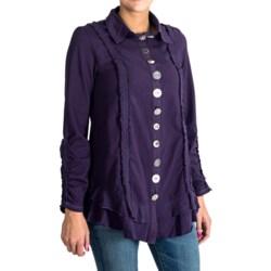 Neon Buddha Ethic Ruffle Car Jacket - Stretch Cotton Jersey (For Women)
