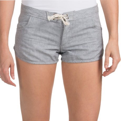 Hurley Boardwalk Shorts - Cotton, Low Rise (For Women)