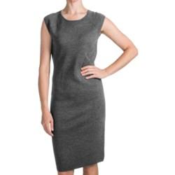 Forte Cashmere Luxe Merino-Silk Dress - Sleeveless (For Women)