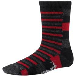 SmartWool Split Stripe Socks - Merino Wool, Crew (For Kids and Youth)