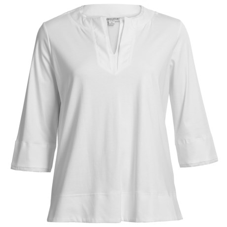 Pendleton Pool Party Tunic Shirt - 3/4 Sleeve (For Plus Size Women)