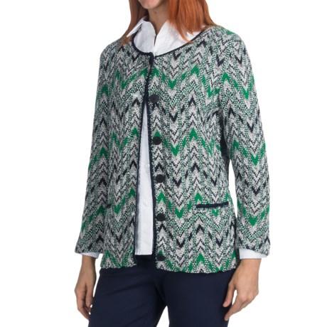 Pendleton Flame-Stitch Cardigan Sweater - 3/4 Sleeve (For Women)