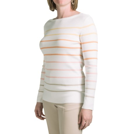 Pendleton Zuma Stripe Pullover Sweater - Cotton, Boat Neck (For Women)