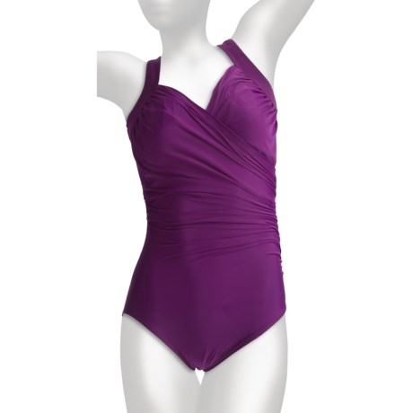 Miraclesuit Sanibel Swimsuit - 1-Piece, Built-In Underwire Bra (For Plus Size Women)