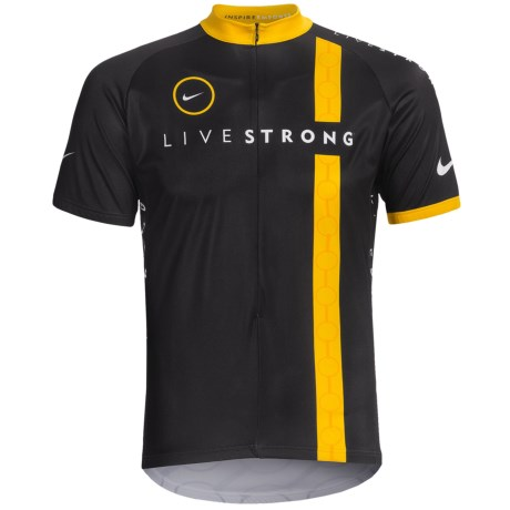 Nike Livestrong Cycling Jersey - Zip Neck, Short Sleeve (For Men)