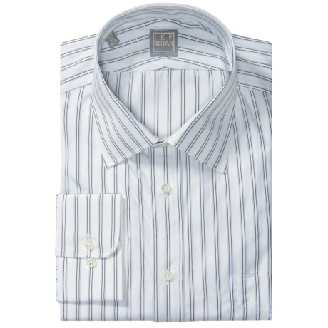 Ike Behar Gold Label Stripe Shirt - Long Sleeve (For Men)